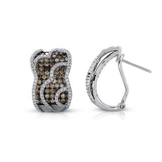 Victoria Kay New! 14k White Gold 2 3/8ct TDW White and Brown Diamond Earrings (I-J, I1-I2)