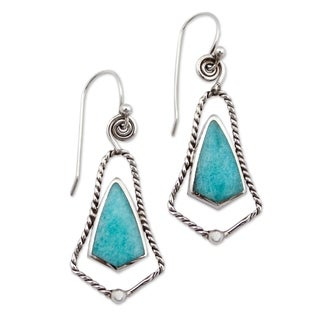 Sterling Silver 'Belles of Peru' Amazonite Earrings (Peru)