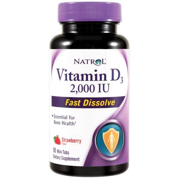 Natrol Vitamin D3 2000IU Fast Dissolve Tablets (Pack of 2)
