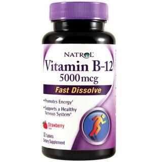 Vitamin B-12 5000mcg Fast Dissolve (30 Tablets)