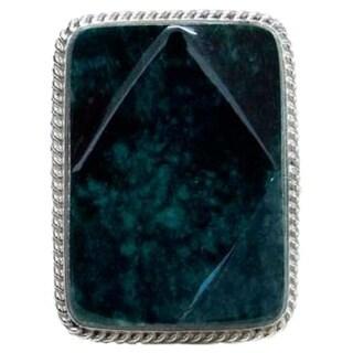 Handmade Sterling Silver 'Ya'ax Chich Princess' Jade Ring (Guatemala)