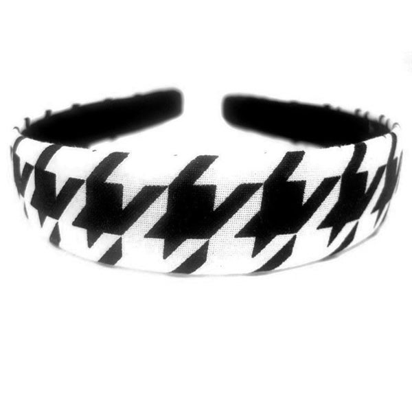 Crawford Corner Shop Black White Houndstooth Headband One Inch