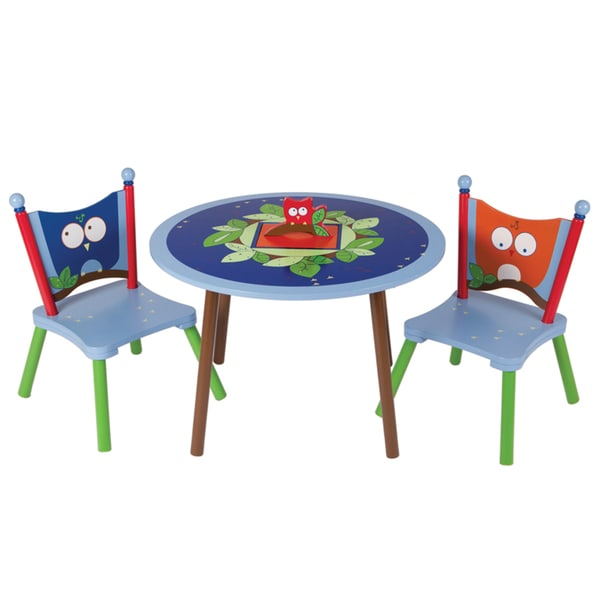 Owls Table and Two Chairs Set