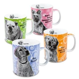 Konitz 'Assorted Dog' Porcelain Mugs (Set of 4)