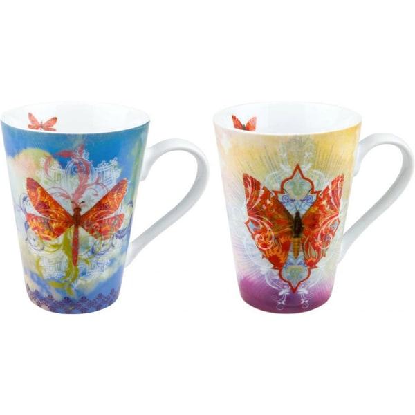Konitz 'Walter' Butterfly/ Dragonfly Porcelain Mugs (Set of 4)