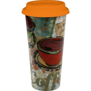 Konitz 'Fresh Brew' Large Porcelain Travel Mugs (Set of 2)