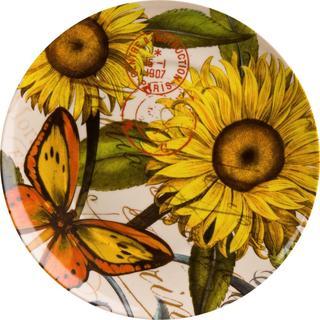 Waechtersbach Sunflower Accents Nature Plates Set Of 4