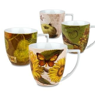 Waechtersbach 'Assorted' Accents Nature Mugs (Set of 4)