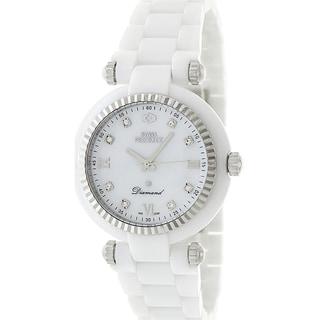 Swiss Precimax Women's White Ceramic Avant Diamond Watch