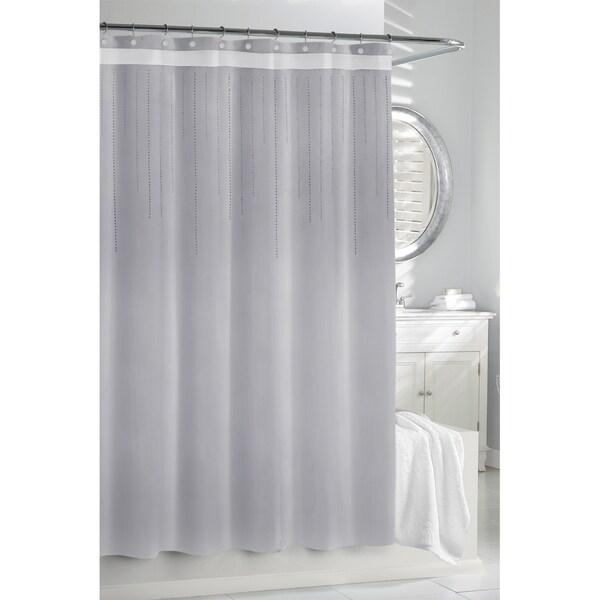 Silver Rhinestones Shower Curtain