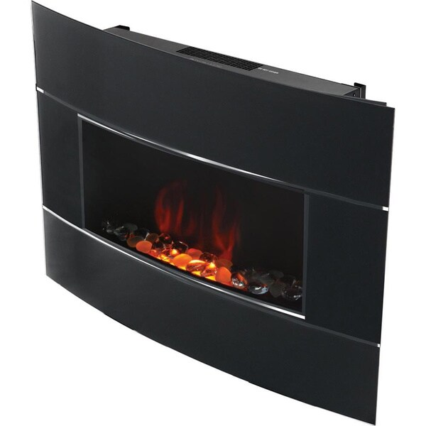 Shop Bionaire Black Electric Fireplace Free Shipping