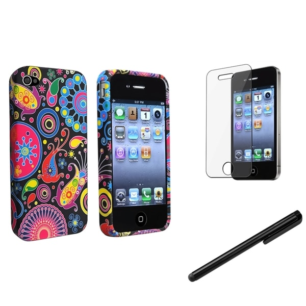 BasAcc TPU Rubber Case/ Protector/ Cleaning Pen for Apple iPhone 4/ 4S