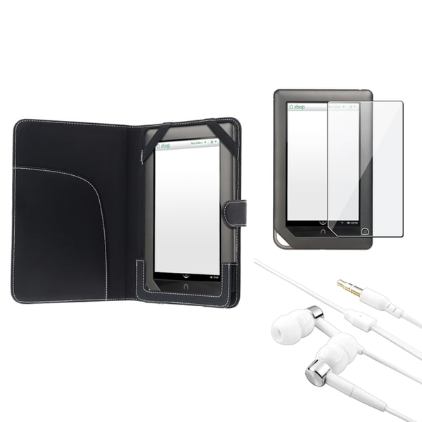 BasAcc Case/ Screen Protector/ Headset for Barnes & Noble Nook Tablet