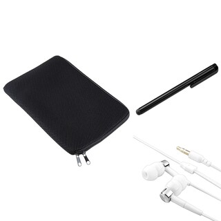INSTEN Black Sleeve/ Stylus/ Headset for Apple iPad 2