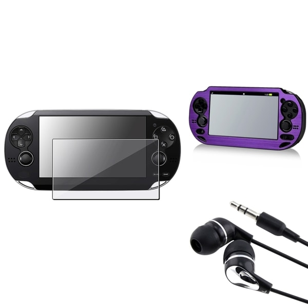 BasAcc Aluminum Case/ Protector/ Headset for Sony Playstation Vita