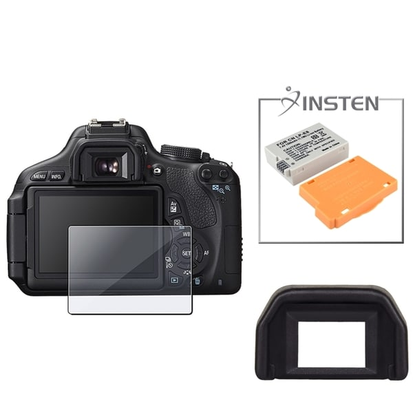 INSTEN Battery/ Eyecup/ LCD Protector for Canon EOS T3i