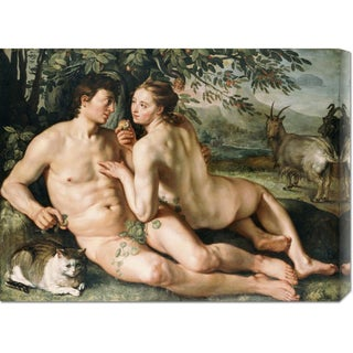 Global Gallery Hendrick Goltzius 'The Fall of Man' Stretched Canvas Art