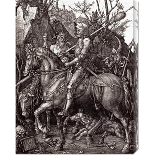 Global Gallery Albrecht Durer 'Knight, Death and The Devil' Stretched Canvas Art