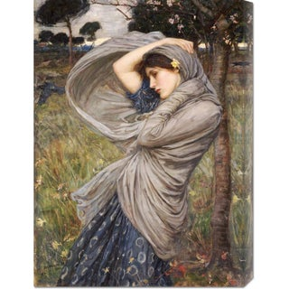 Global Gallery John William Waterhouse 'Boreas' Stretched Canvas Art