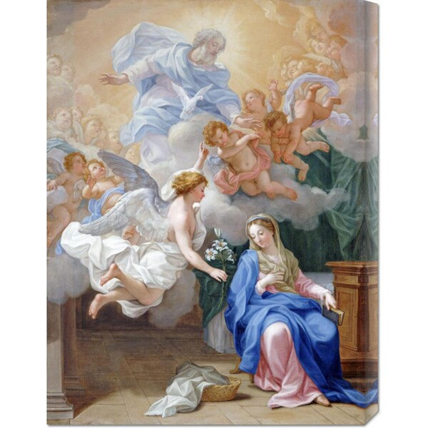 Global Gallery Giovanni Odazzi 'The Annunciation' Stretched Canvas Art