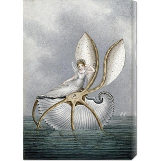 Big Canvas Co. Amelia Jane Murray 'A Fairy Resting On a Shell' Stretched Canvas Art