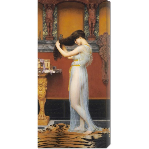 Global Gallery John William Godward 'The Toilet' Stretched Canvas Art