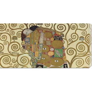 Global Gallery Gustav Klimt 'The Embrace' Medium Stretched Canvas Art