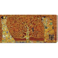 Global Gallery Gustav Klimt 'Tree of Life Red Variation' Stretched Canvas Art