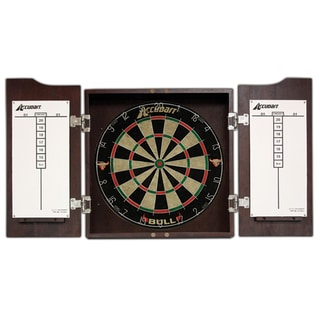 Accudart Bull Cabinet and Bristle Dartboard Set
