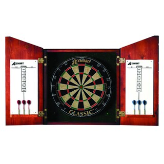 Accudart Union Jack Cabinet and Bristle Dartboard Set