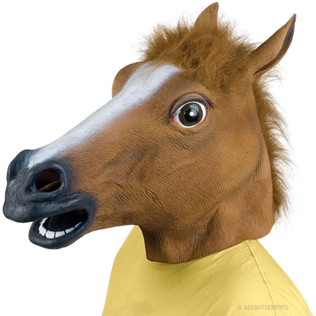 Accoutrements Horse Head Mask, Adult Unisex, Multicolor , One Size