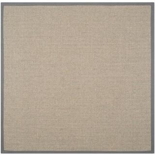 Safavieh Casual Natural Fiber Hand-Woven Uni Grey Fine Sisal Rug (6' Square)