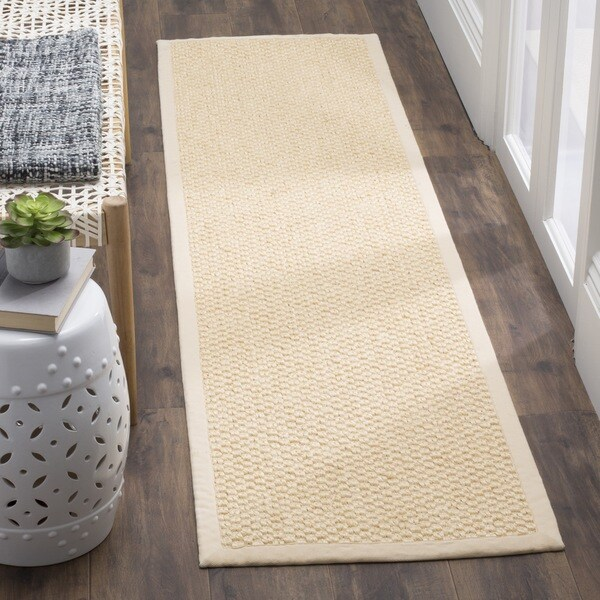 Safavieh Casual Natural Fiber Chunky Basketweave Cream Sisal Rug