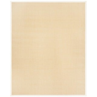 Safavieh Casual Natural Fiber Hand-Woven Resorts Maize Beige / Ivory Fine Sisal Rug