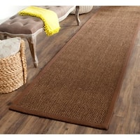 "Safavieh Casual Natural Fiber Hand-Woven Resorts Brown Fine Sisal Runner - 2'6"" x 20'"