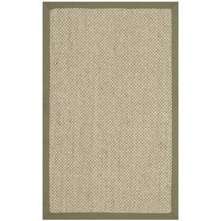 Safavieh Casual Natural Fiber Hand Woven Resorts Green Tiger Weave Sisal Runner