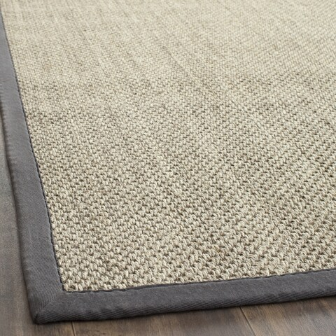"Safavieh Casual Natural Fiber Resorts Natural / Grey Fine Sisal Rug - 2'6"" x 4'"