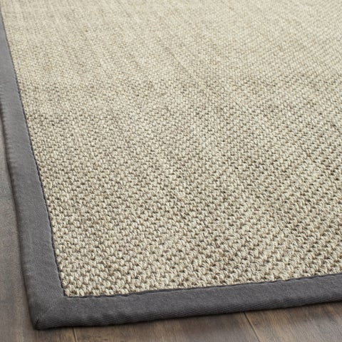 Safavieh Casual Natural Fiber Hand-Woven Resorts Natural / Grey Fine Sisal Rug - 2'6 x 4'