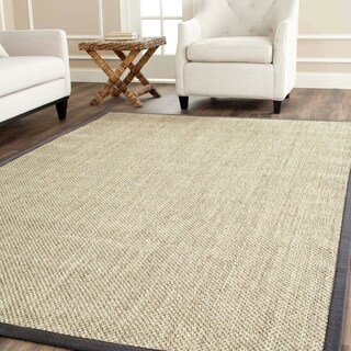Safavieh Casual Natural Fiber Hand-Woven Resorts Natural / Grey Fine Sisal Rug - 2'6 x 4'
