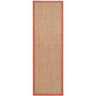 Safavieh Casual Natural Fiber Dream Rust Sisal Rug (2' 6 x 12')