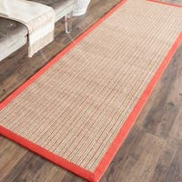 Safavieh Casual Natural Fiber Dream Rust Sisal Rug - 2'6 x 12'