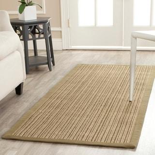 Safavieh Casual Natural Fiber Dream Green Sisal Rug (2' 6 x 12')
