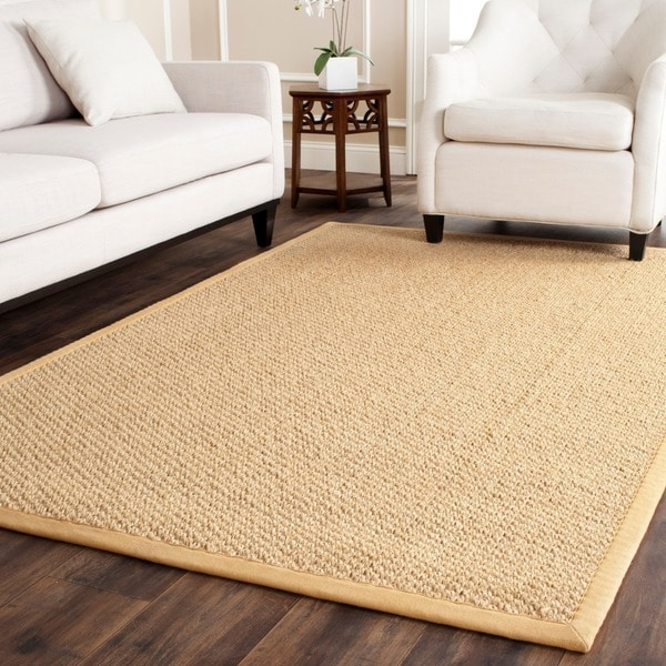 Safavieh Casual Natural Fiber Chunky Basketweave Maize Beige Sisal Rug
