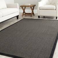 Safavieh Casual Natural Fiber Hand-Woven Serenity Charcoal Grey Sisal Rug - 8' x 8' Square