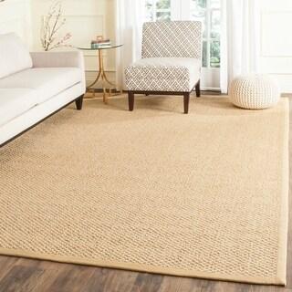 safavieh casual natural fiber chunky basketweave marble ivory taupe sisal rug