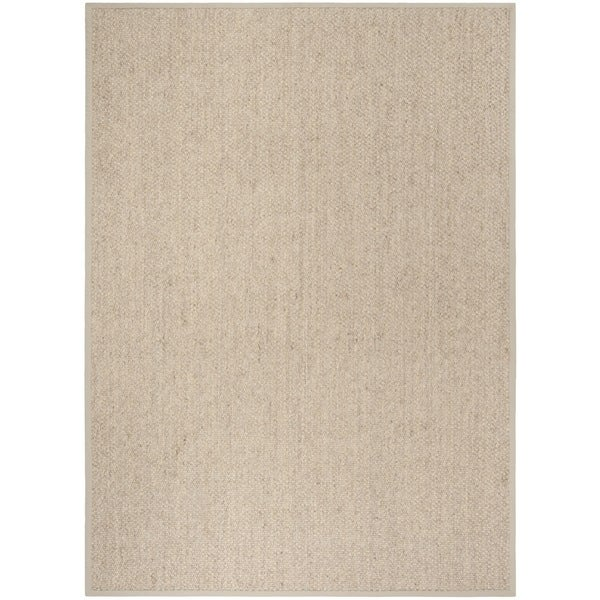 Safavieh Casual Natural Fiber Chunky Basketweave Marble Ivory / Taupe Sisal Rug