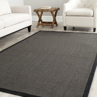 Safavieh Casual Natural Fiber Hand-Woven Serenity Charcoal Grey Sisal Rug (6' Square)