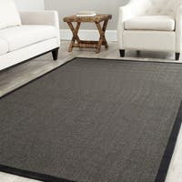 Safavieh Casual Natural Fiber Hand-Woven Serenity Charcoal Grey Sisal Rug - 6' x 6' Square