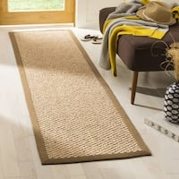 Safavieh Casual Natural Fiber Chunky Basketweave Natural / Sisal Rug