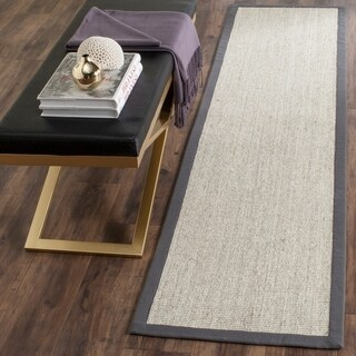 "Safavieh Casual Natural Fiber Hand-Woven Serenity Marble / Grey Sisal Rug - 2'6"" x 10'"
